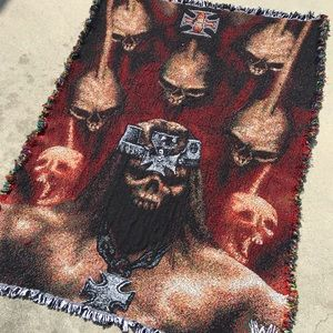 Incredible Hand Knitted Triple H Blanket WWE